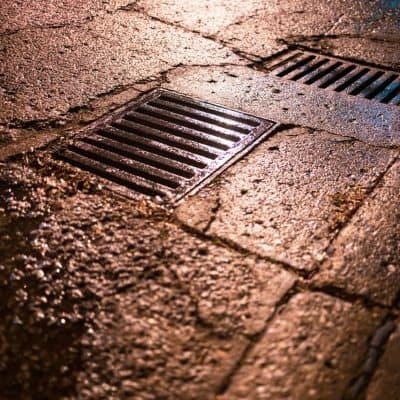 Stormwater entering drain