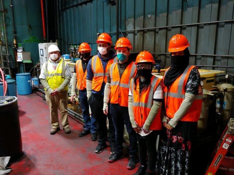 Otterbein Students Touring Worthington Industries
